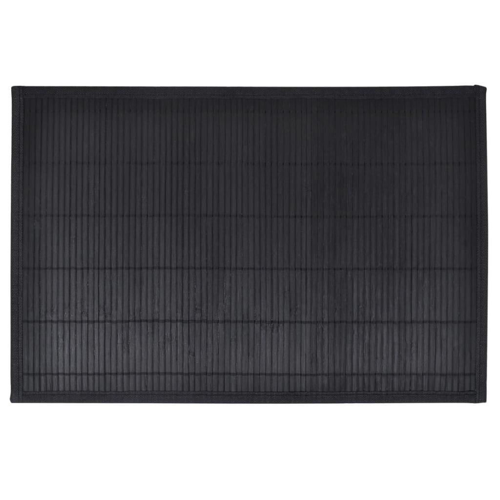 Afbeelding van vidaXL 6 Placemats bamboe 30 x 45 cm zwart