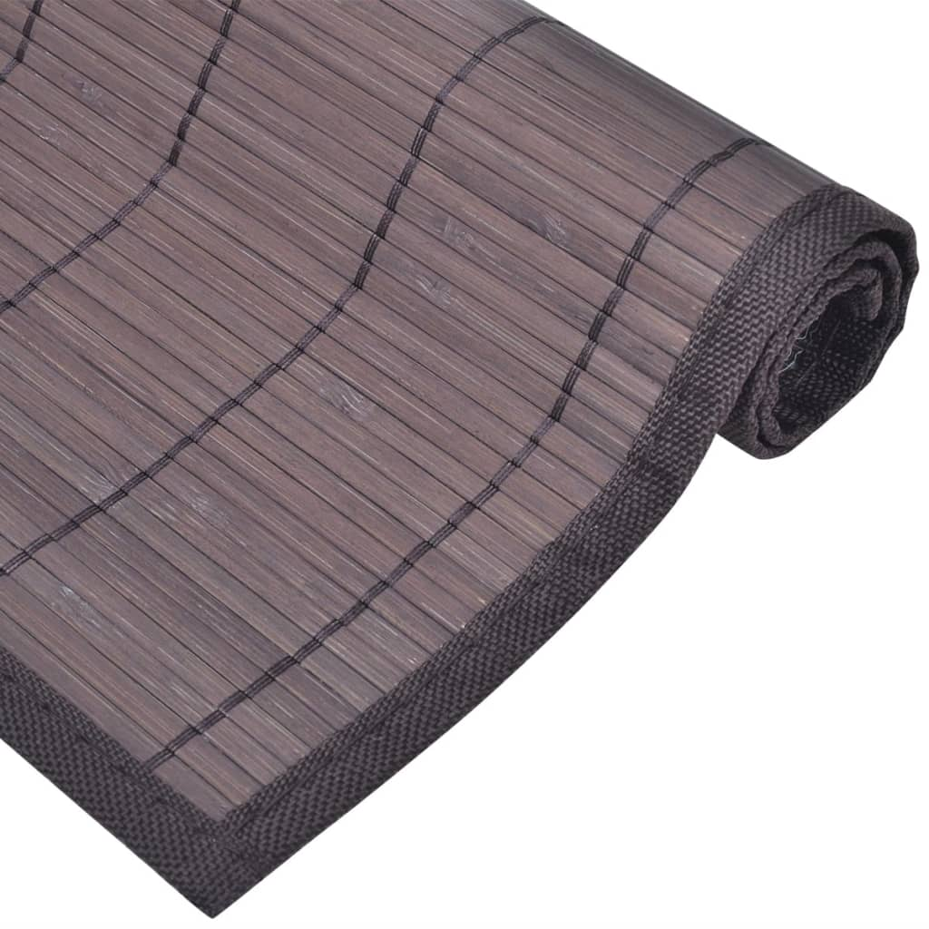 6 bamboo placemats 30 x 45 cm dark brown. Black Bedroom Furniture Sets. Home Design Ideas