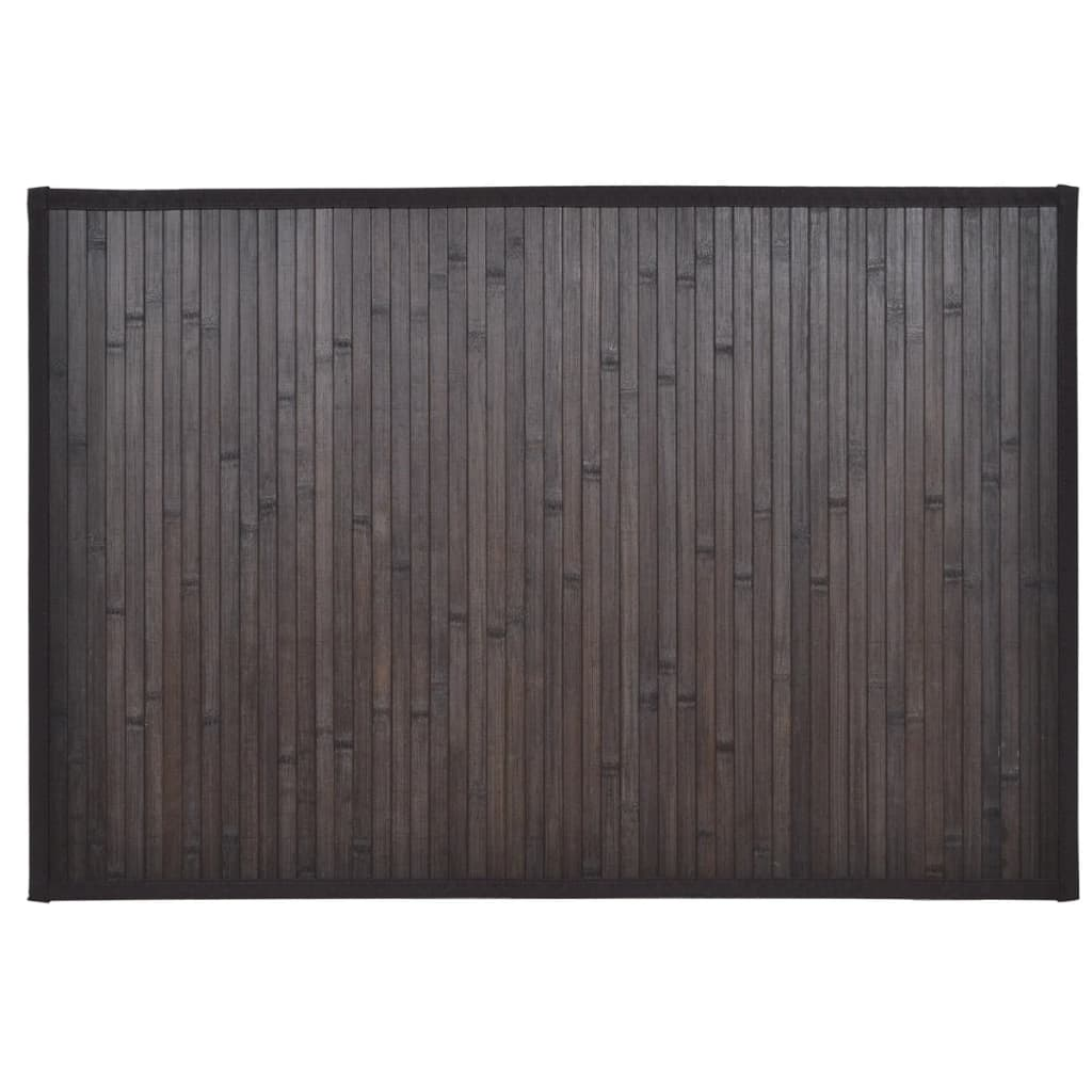 acheter tapis de bain en bambou 60 x 90 cm marron fonc. Black Bedroom Furniture Sets. Home Design Ideas