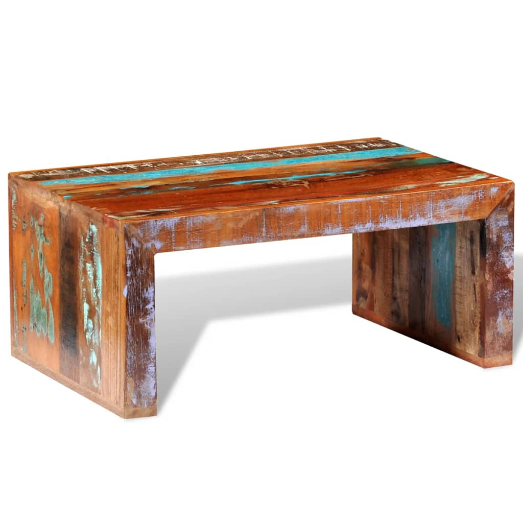Antique Coffee Table Uk: Antique-style Reclaimed Wood Coffee Table