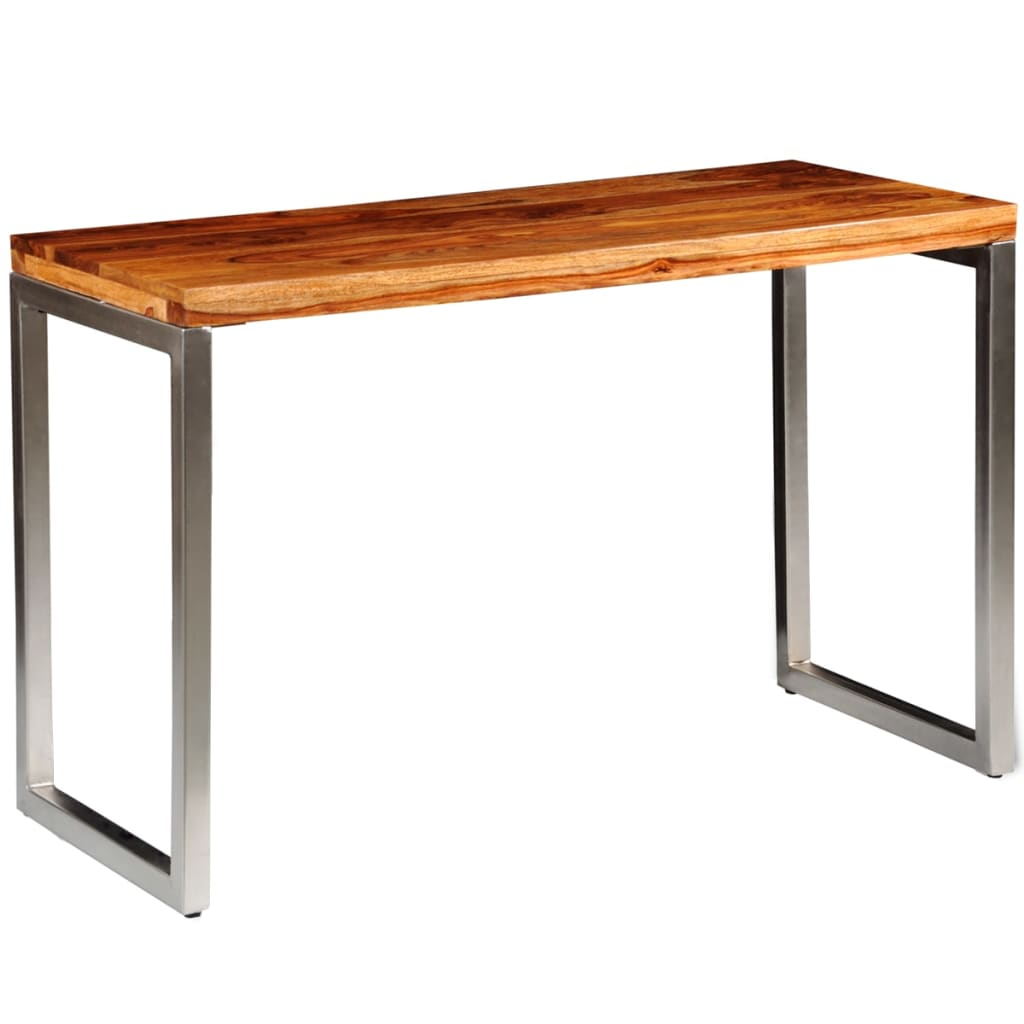 Superb img of  Sheesham Wood Dining Table Office Desk with Steel Leg vidaXL.com with #B15018 color and 1024x1024 pixels