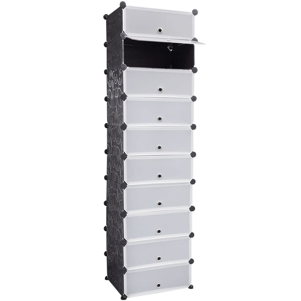 vidaxl-black-white-shoe-organiser-storage-rack-with-10-compartments-47x37x172