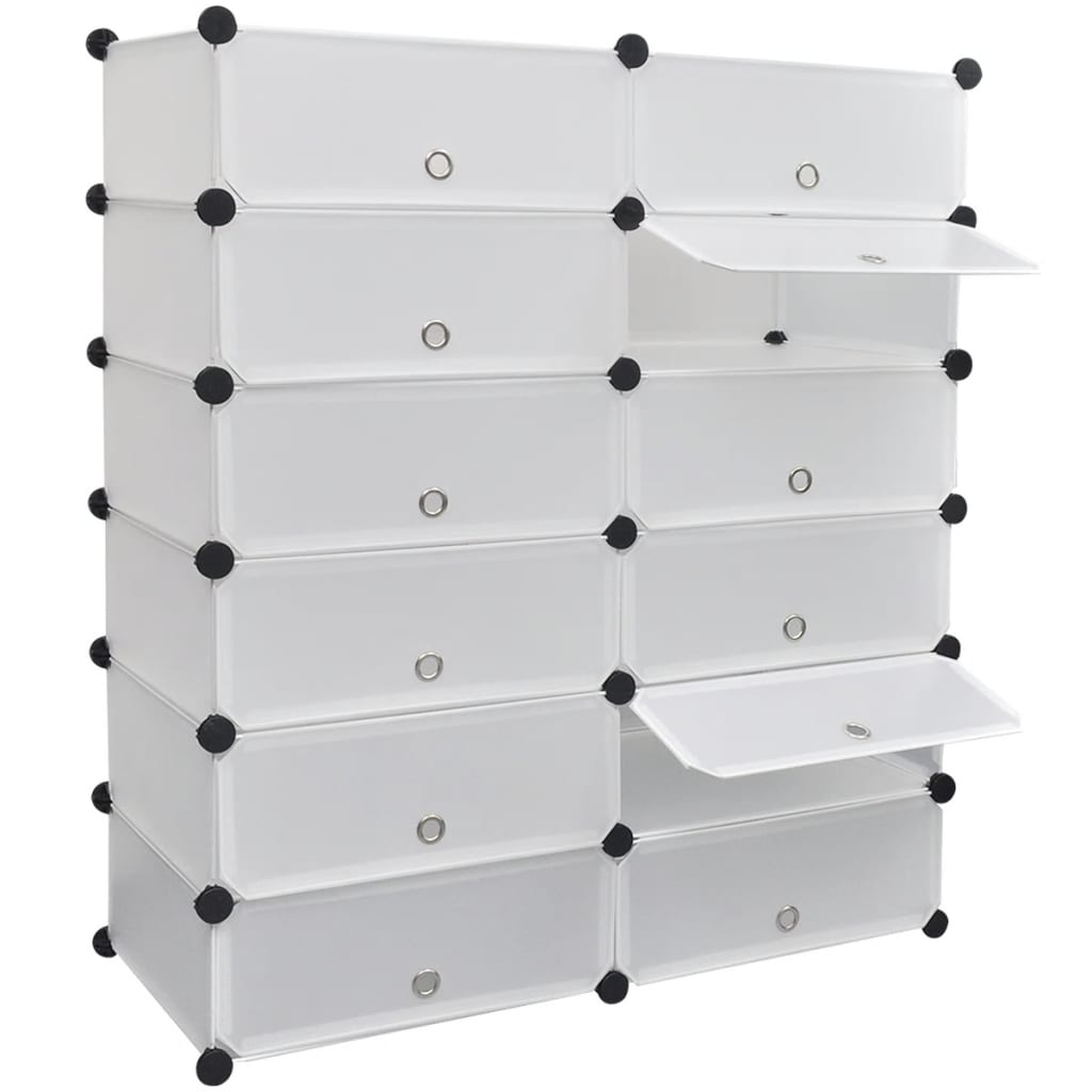 vidaxl-white-shoe-organiser-storage-rack-with-12-compartments-40-x-31-160cm