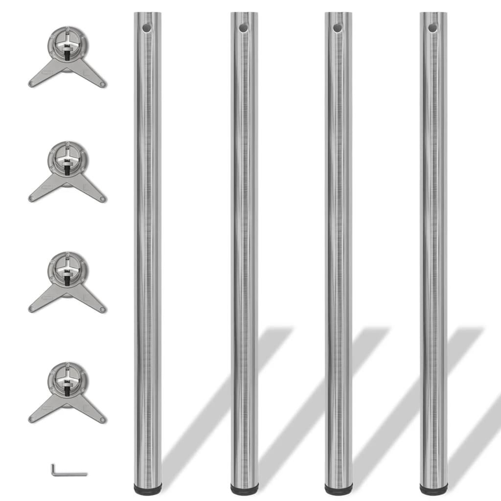 vidaXL 4 db állítható magasságú asztalláb 1100 matt nikkel