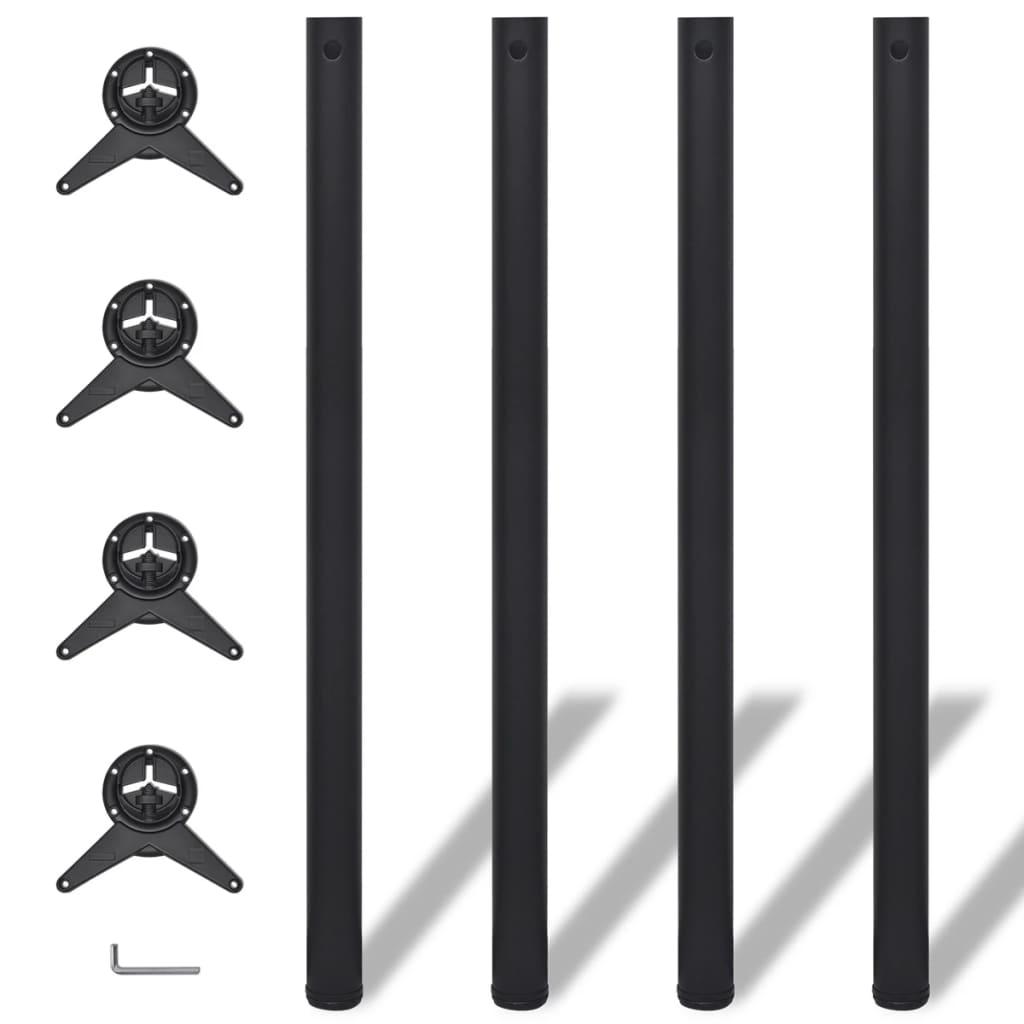 acheter 4 pieds de table noir hauteur r glable 1100 mm pas cher. Black Bedroom Furniture Sets. Home Design Ideas