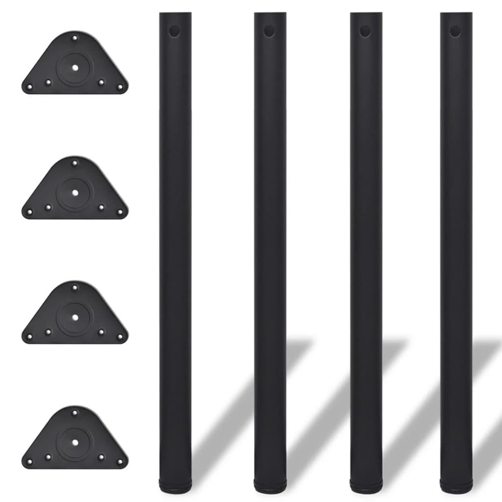 acheter 4 pieds de table noir hauteur r glable 870 mm pas cher. Black Bedroom Furniture Sets. Home Design Ideas