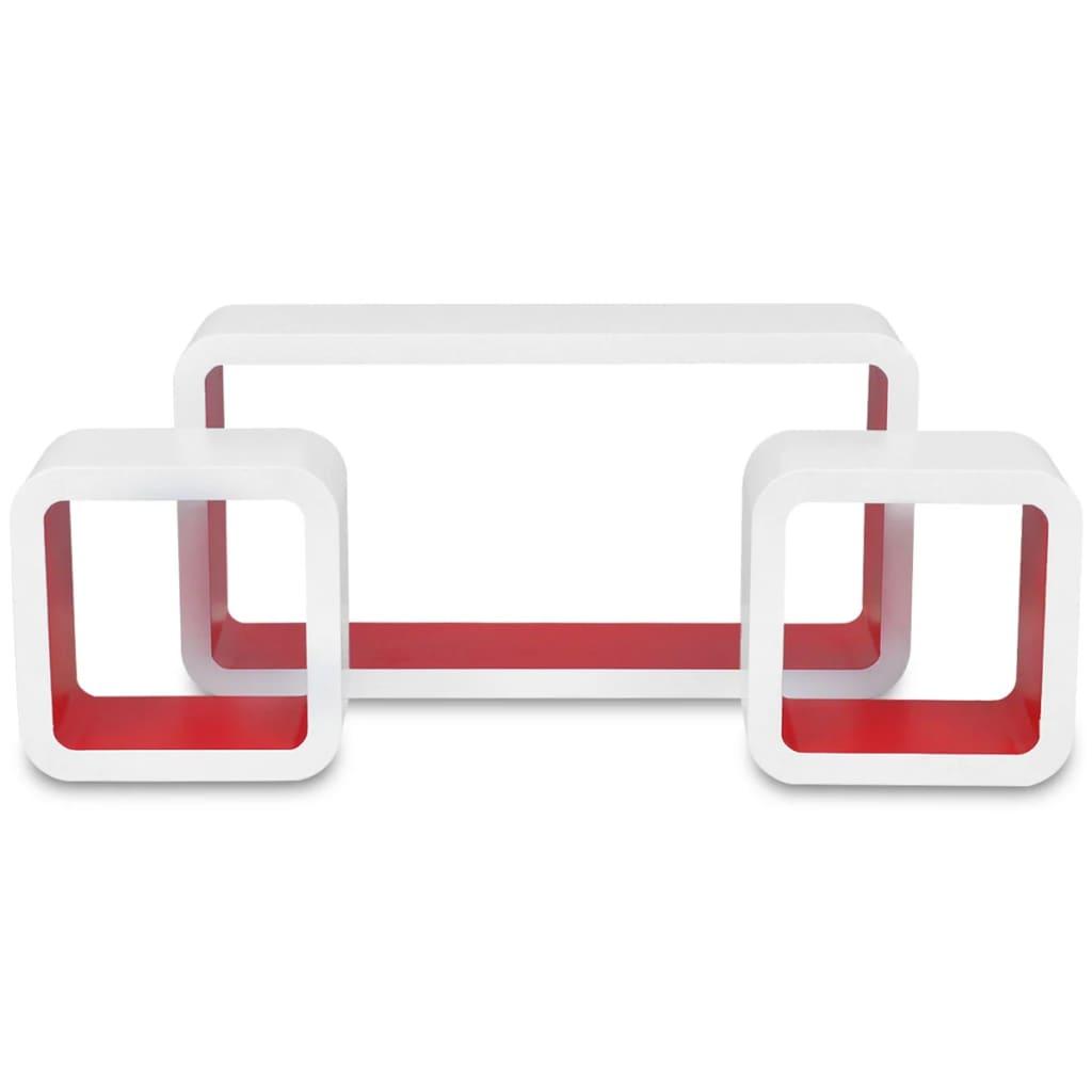 der 3er set mdf cube regal h ngeregal wandregal f r b cher. Black Bedroom Furniture Sets. Home Design Ideas