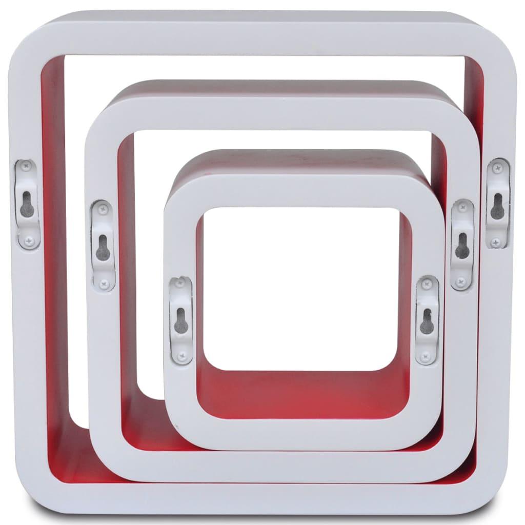 vidaXL-3-cubos-estantes-exhibidores-flotantes-tablero-DM-blanco-rojo-libros-DVD