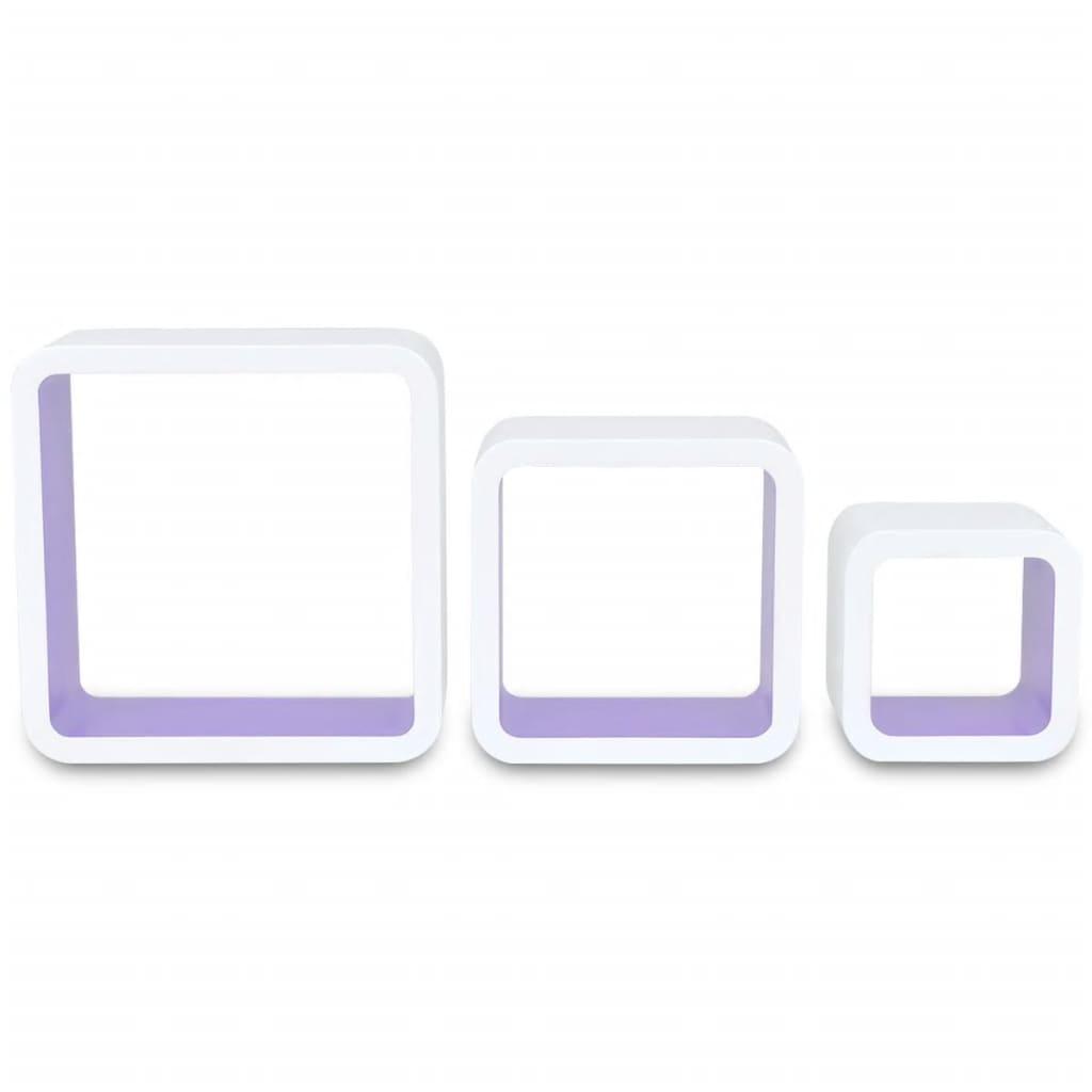 3er set mdf h ngeregal cube regal regalw rfel f b cher. Black Bedroom Furniture Sets. Home Design Ideas