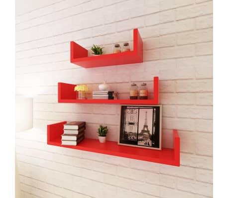 der 3er set mdf wandregal h ngeregal f r b cher dvd u. Black Bedroom Furniture Sets. Home Design Ideas