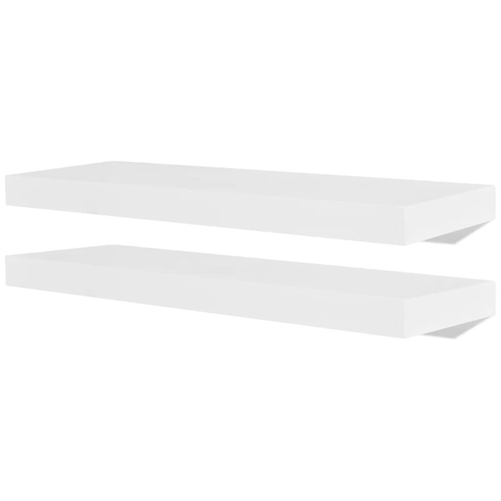 der 2er set mdf wandregal h ngeregal wandboard b cher dvd. Black Bedroom Furniture Sets. Home Design Ideas
