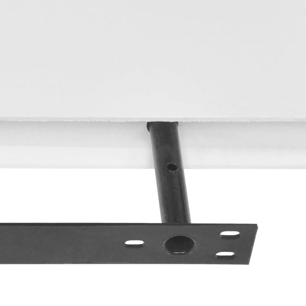 2 white mdf floating wall display shelves. Black Bedroom Furniture Sets. Home Design Ideas