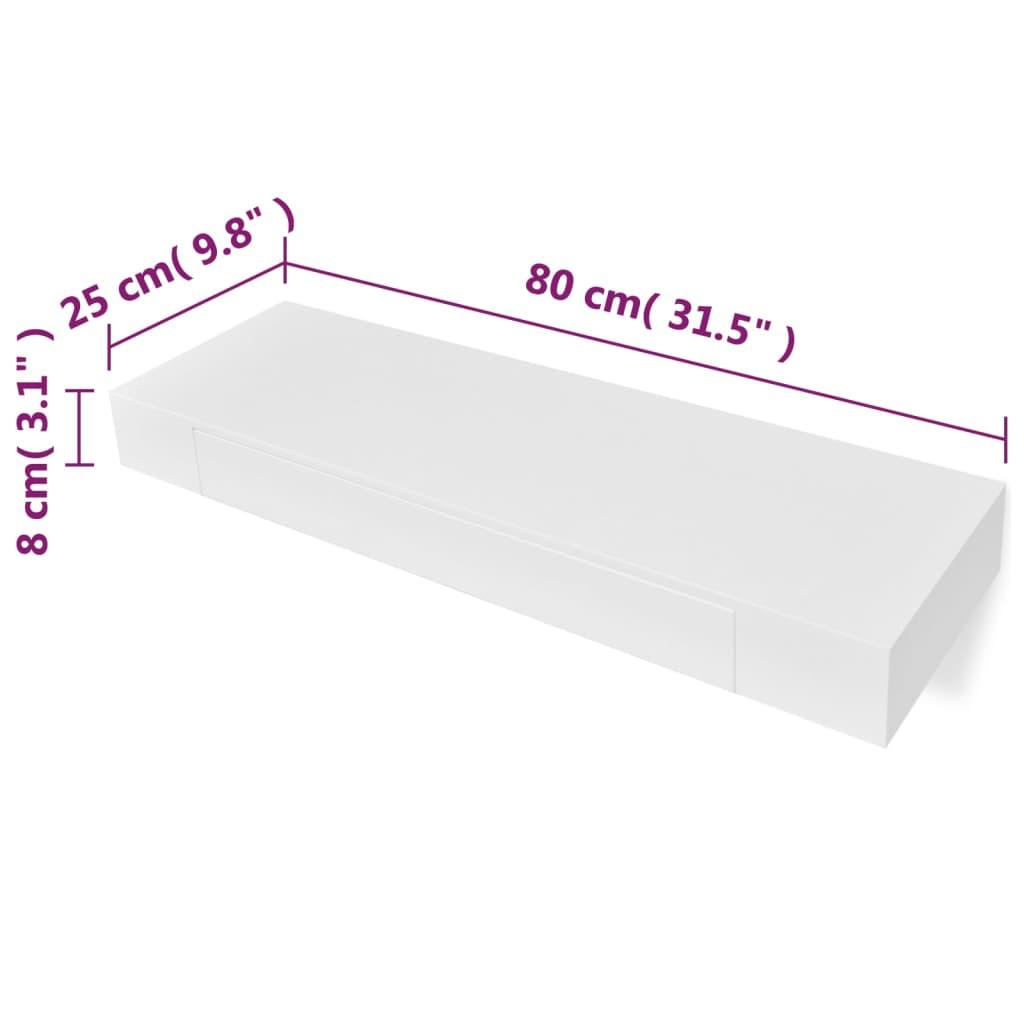 acheter etag re murale en mdf blanc avec 1 tiroir pour dvd. Black Bedroom Furniture Sets. Home Design Ideas