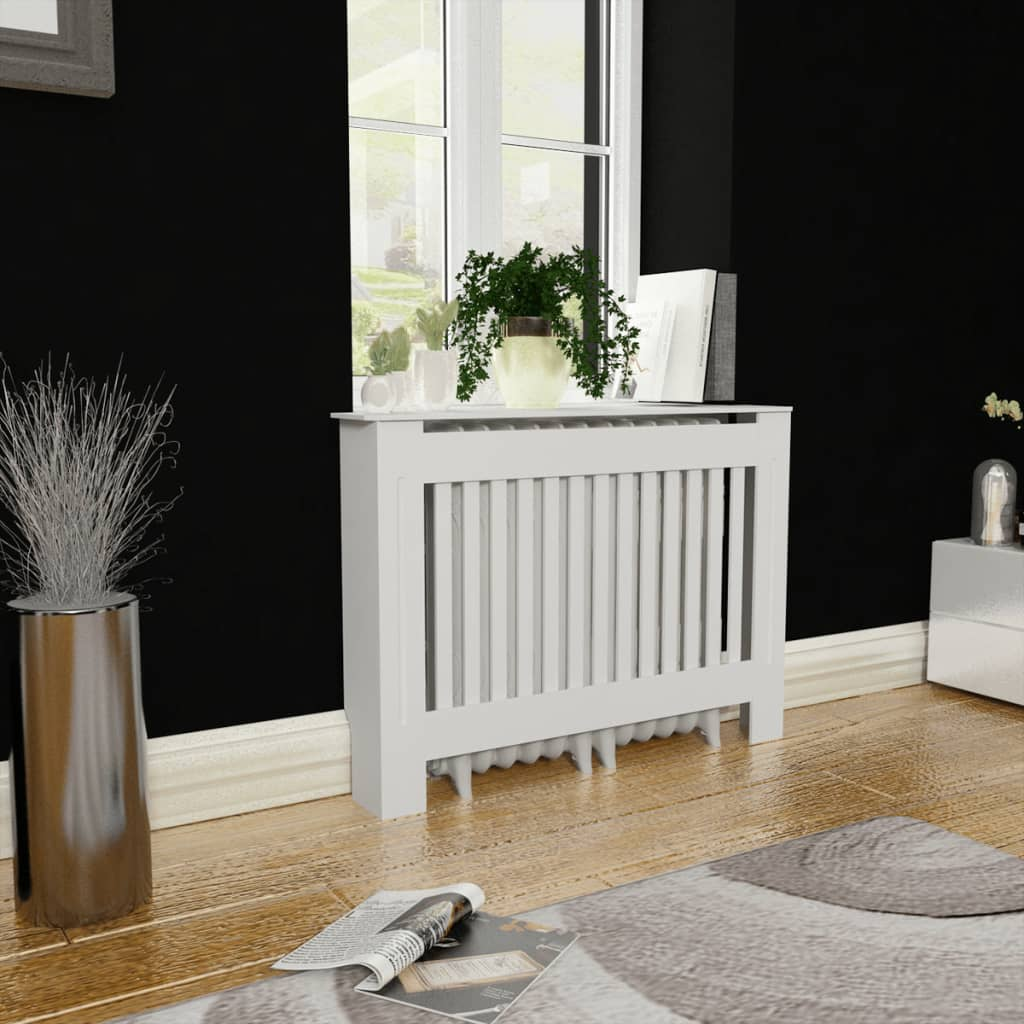 Image Is Loading Radiator Cover White Painted Wall Cabinet MDF Heating