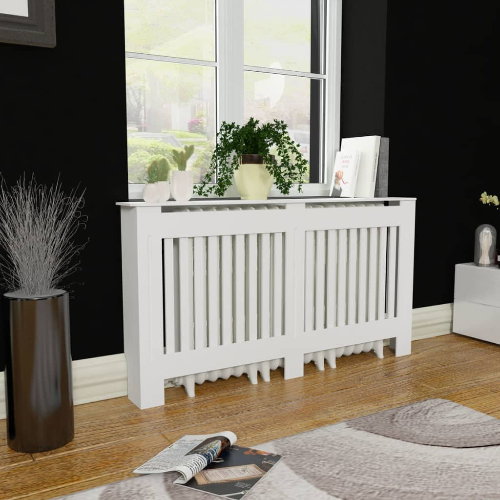 la boutique en ligne cache radiateur blanc mdf 152 cm. Black Bedroom Furniture Sets. Home Design Ideas