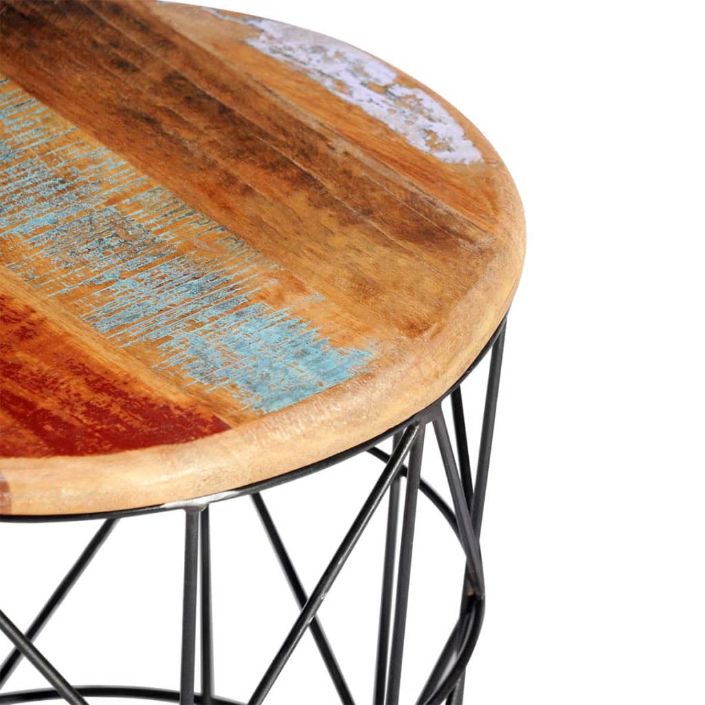 Vidaxl Coffee Table Teak Resin: 2 Reclaimed Wood Coffee Tables Round 35 Cm/45 Cm
