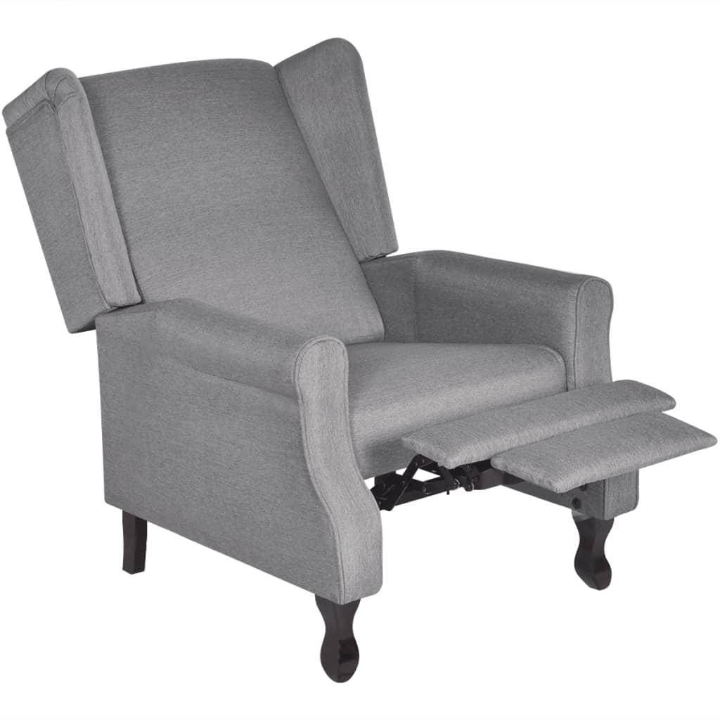 acheter fauteuil tv r glable en tissu gris pas cher. Black Bedroom Furniture Sets. Home Design Ideas