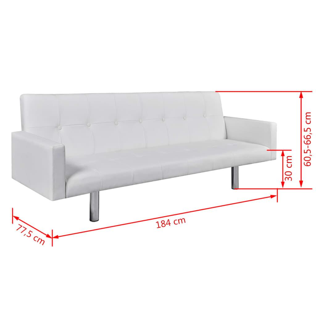 Articoli per divano letto in pelle artificiale con bracciolo bianco - Letto in pelle bianco ...