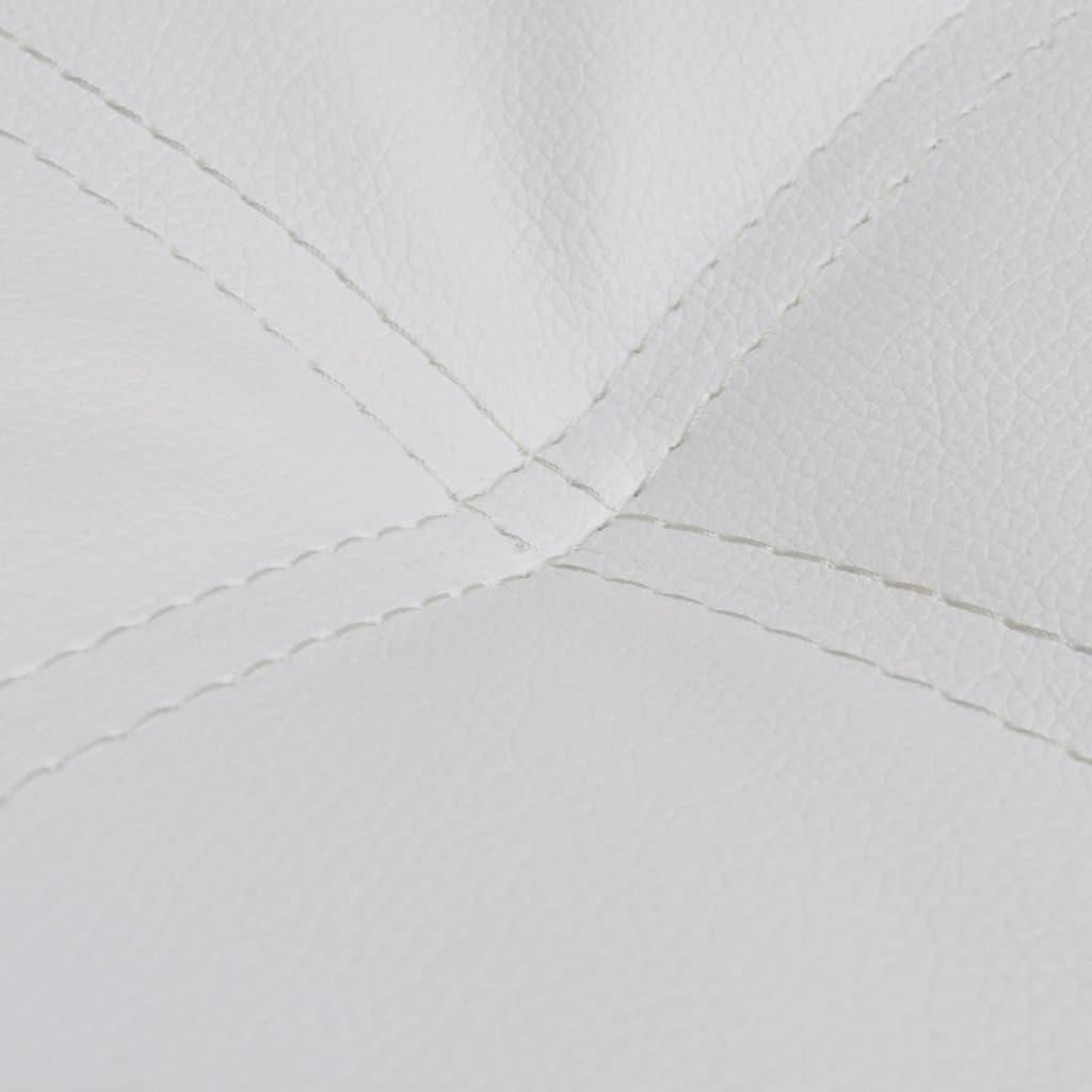 wei e kunstleder chaiselongue mit kissen g nstig kaufen. Black Bedroom Furniture Sets. Home Design Ideas