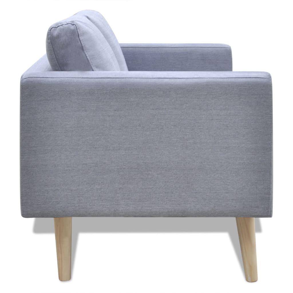 La boutique en ligne canap 2 places en tissu gris clair for Canape tissu gris