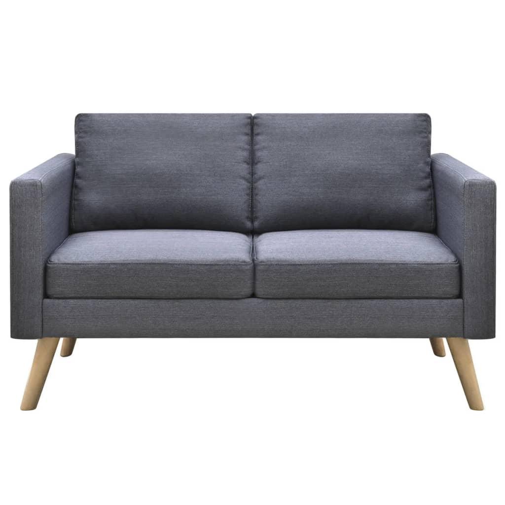 Dark grey 2 seater fabric sofa for Dark grey couch