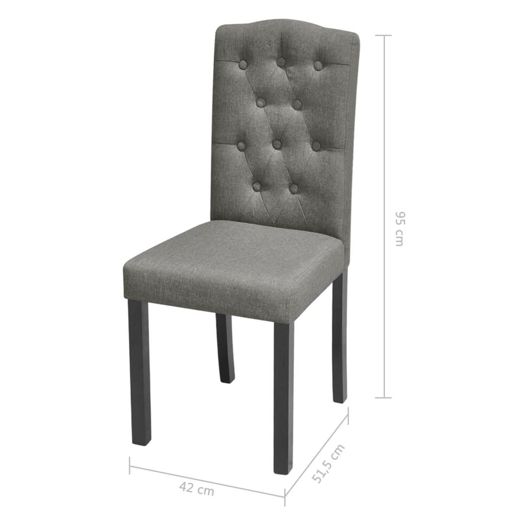 2 sillas grises oscuras de tela y tapizadas for Sillas para bolear zapatos