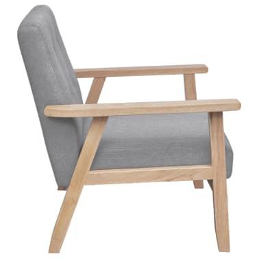 vidaXL Houten fauteuil retro grijs[3/6]