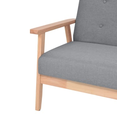 vidaXL Houten fauteuil retro grijs[4/6]