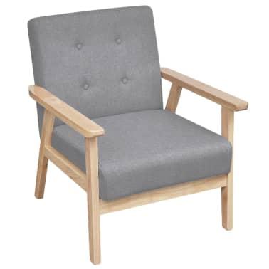 vidaXL Houten fauteuil retro grijs[1/6]