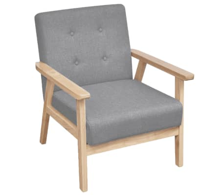 Retro siva drvena fotelja