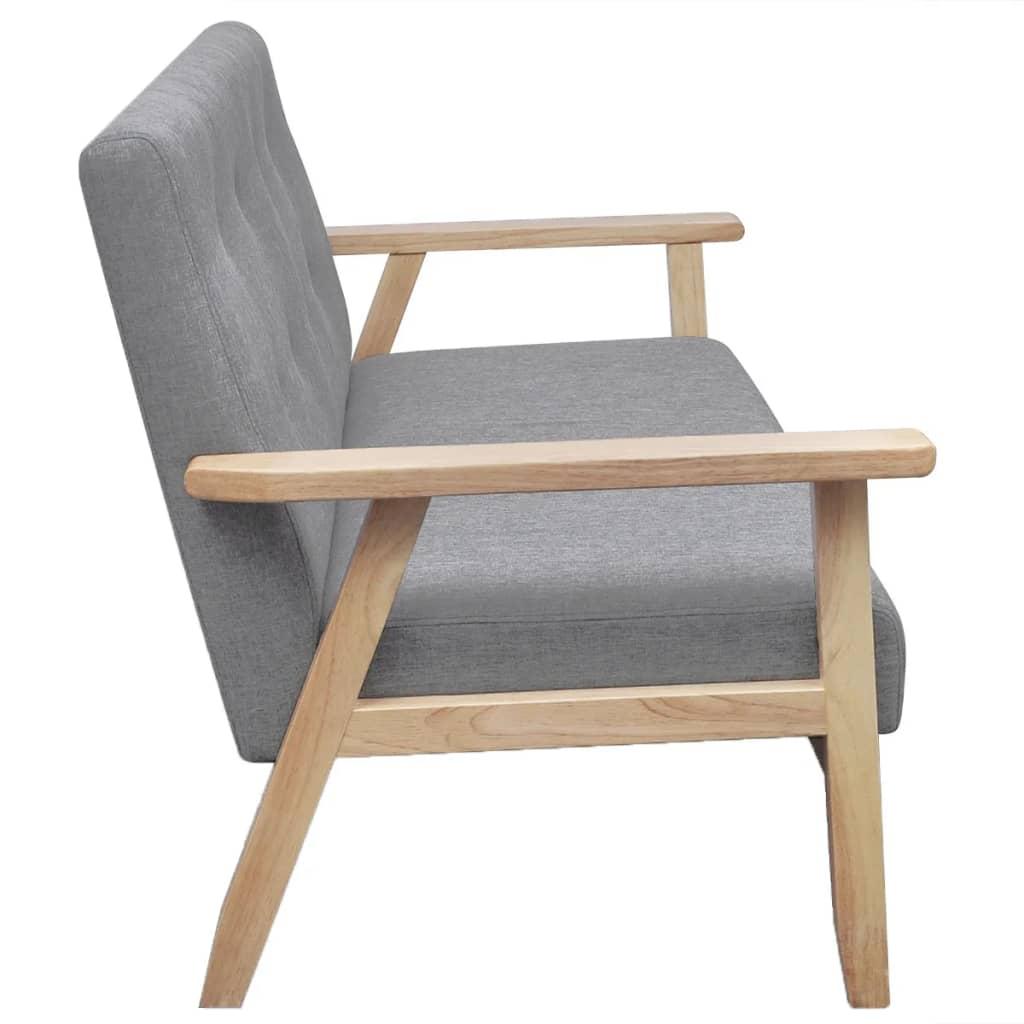 acheter canap r tro en bois gris pas cher. Black Bedroom Furniture Sets. Home Design Ideas