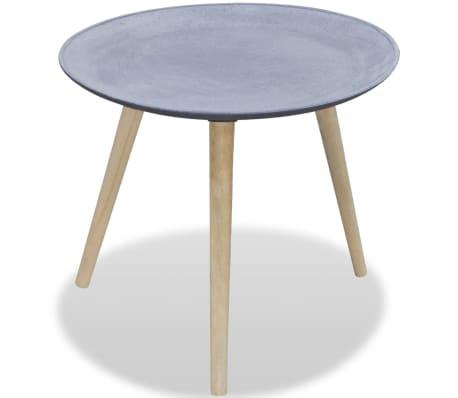 der runder beistelltisch kaffeetisch grau betonoptik online shop. Black Bedroom Furniture Sets. Home Design Ideas
