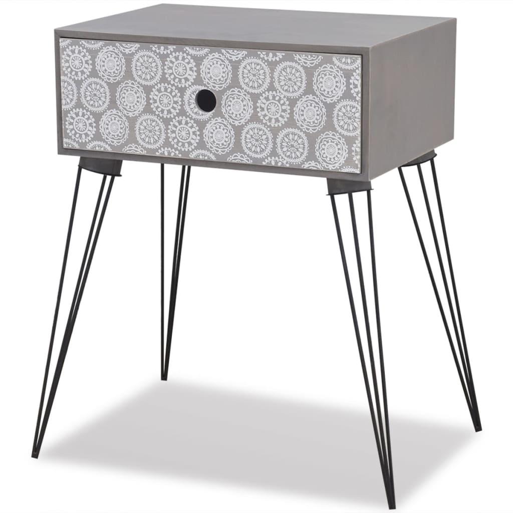 La boutique en ligne table de chevet tiroir gris - Table de chevet solde ...