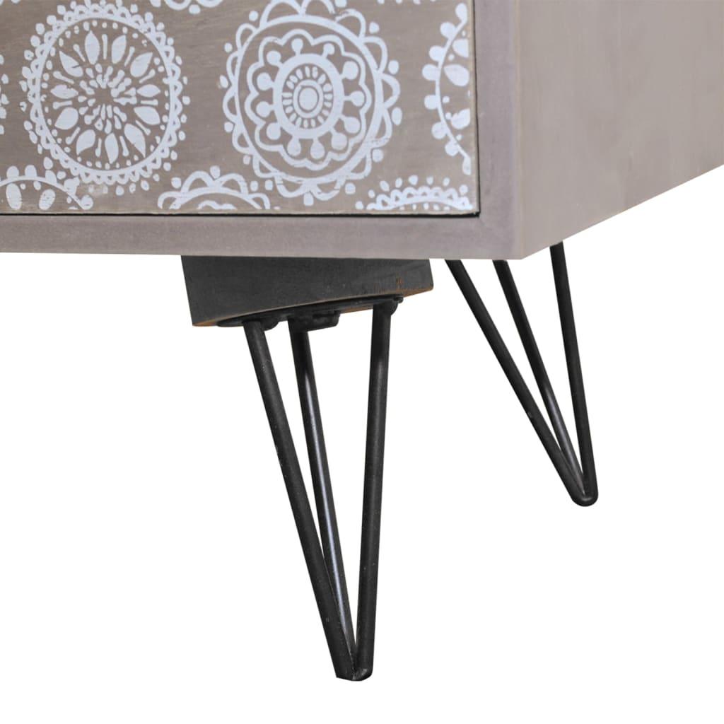 Acheter table de chevet 3 tiroirs gris pas cher - Table de chevet solde ...