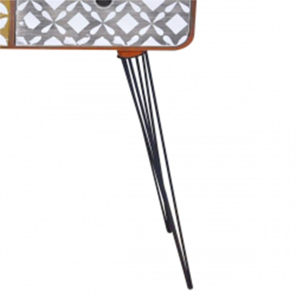 beistellschrank konsolentisch mit 3 schubladen braun g nstig kaufen. Black Bedroom Furniture Sets. Home Design Ideas