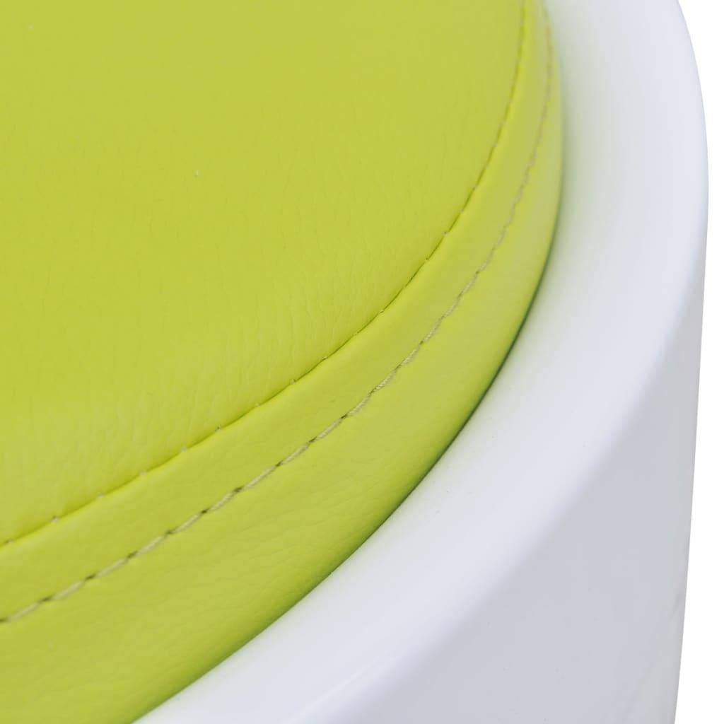Sgabello in abs bianco rotondo con sedile rimovibile verde for Sgabello verde