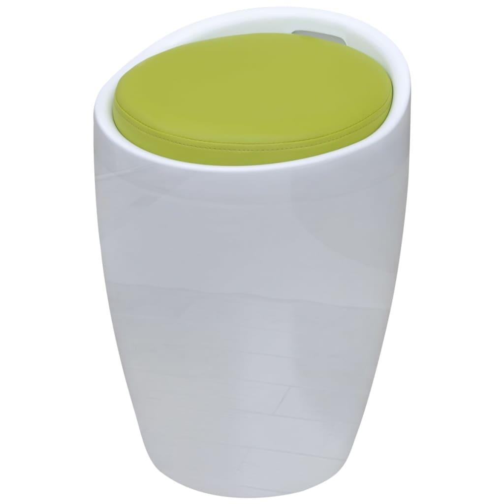 vidaXL bárszék levehető zöld kerek műbőr üléssel