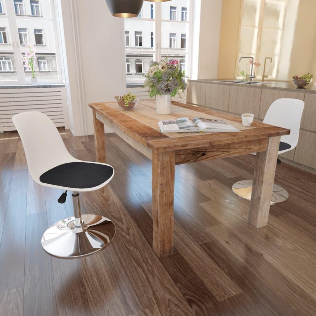 Set 2 sedie da tavola bianco e nero girevoli con altezza for Tavola e sedie