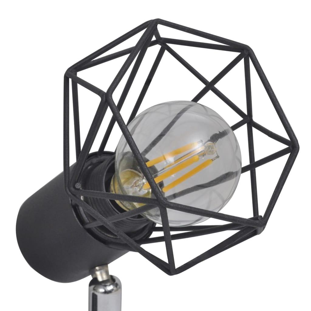 L mpara led de techo estilo industrial seis focos negro - Lamparas de techo tipo industrial ...