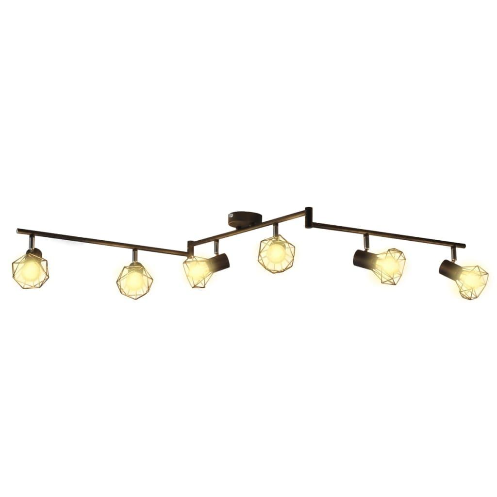 2 4 6x led fluter strahler warmwei deckenfluter for Deckenlampe 2 strahler
