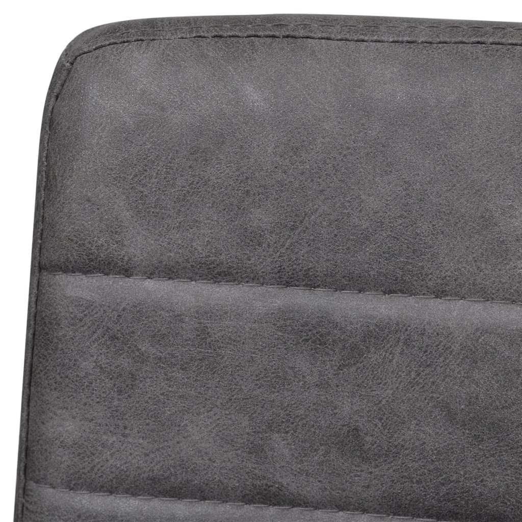 2 freischwinger esszimmerst hle mit armlehnen grau geriffelt. Black Bedroom Furniture Sets. Home Design Ideas