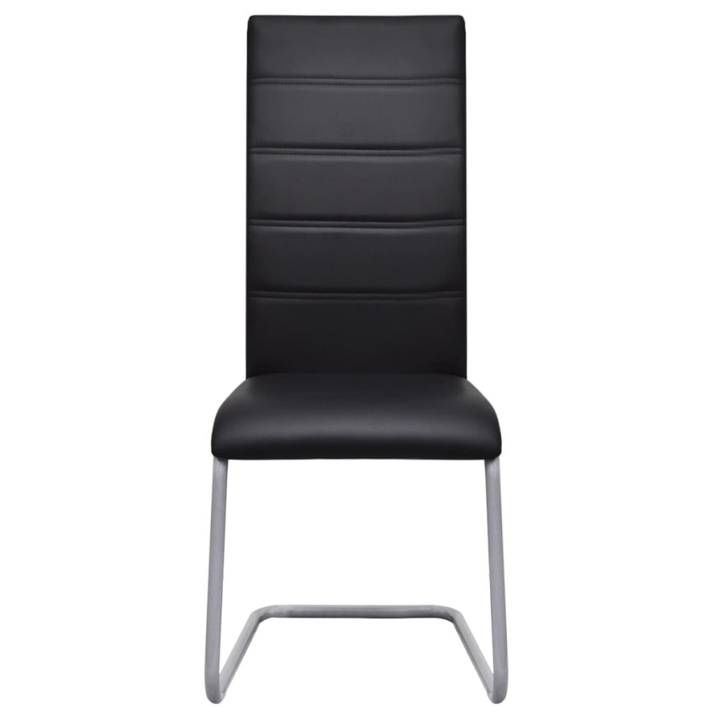 2 sillas cantilever negras con respaldo alto tienda online for Sillas cocina negras