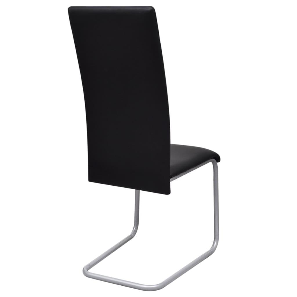 Set 2 sedie da cucina pranzo cantilever con schienale alto for Sedie alte da cucina