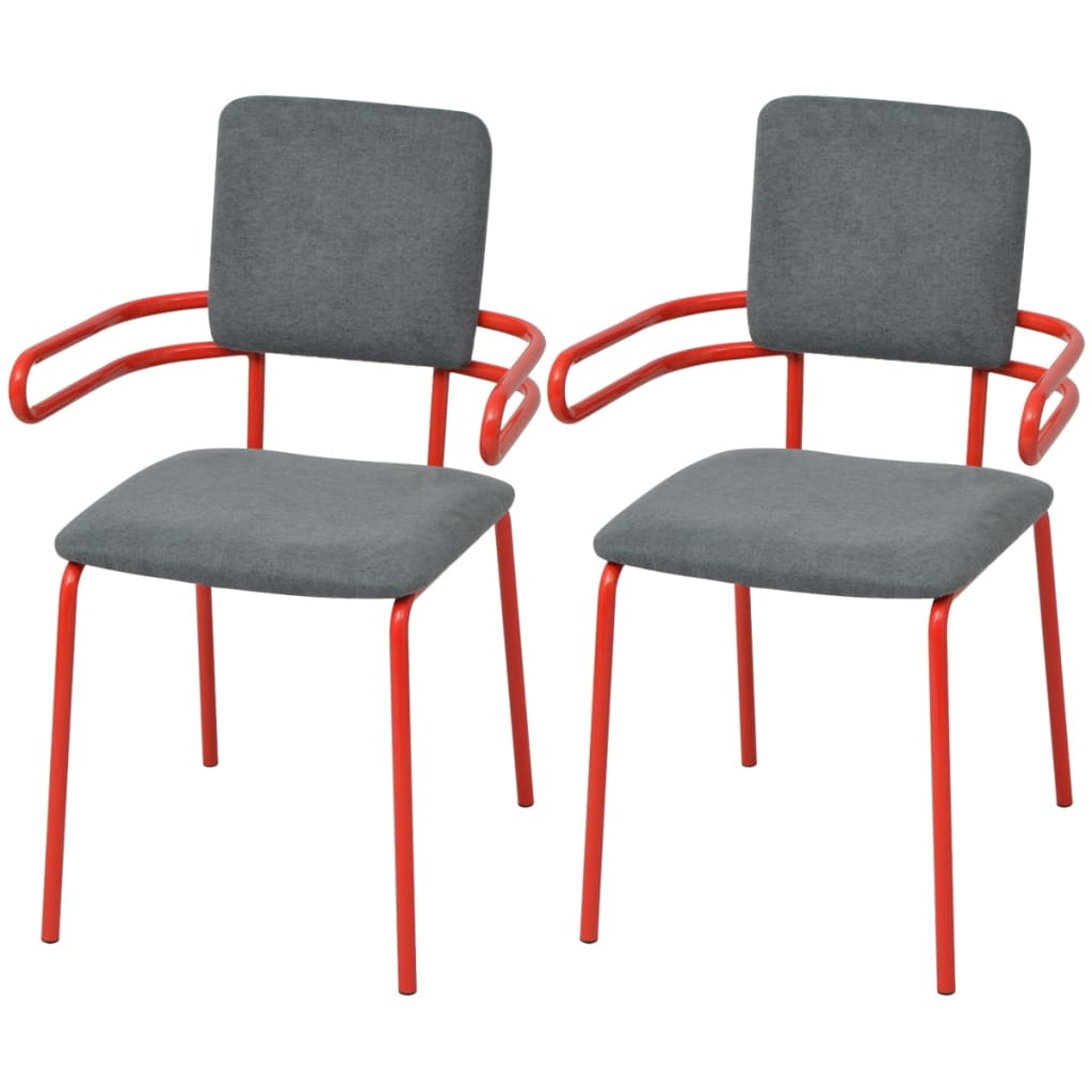 Acheter vidaxl chaises fauteuil de salle manger 2 for Chaises fauteuil salle a manger