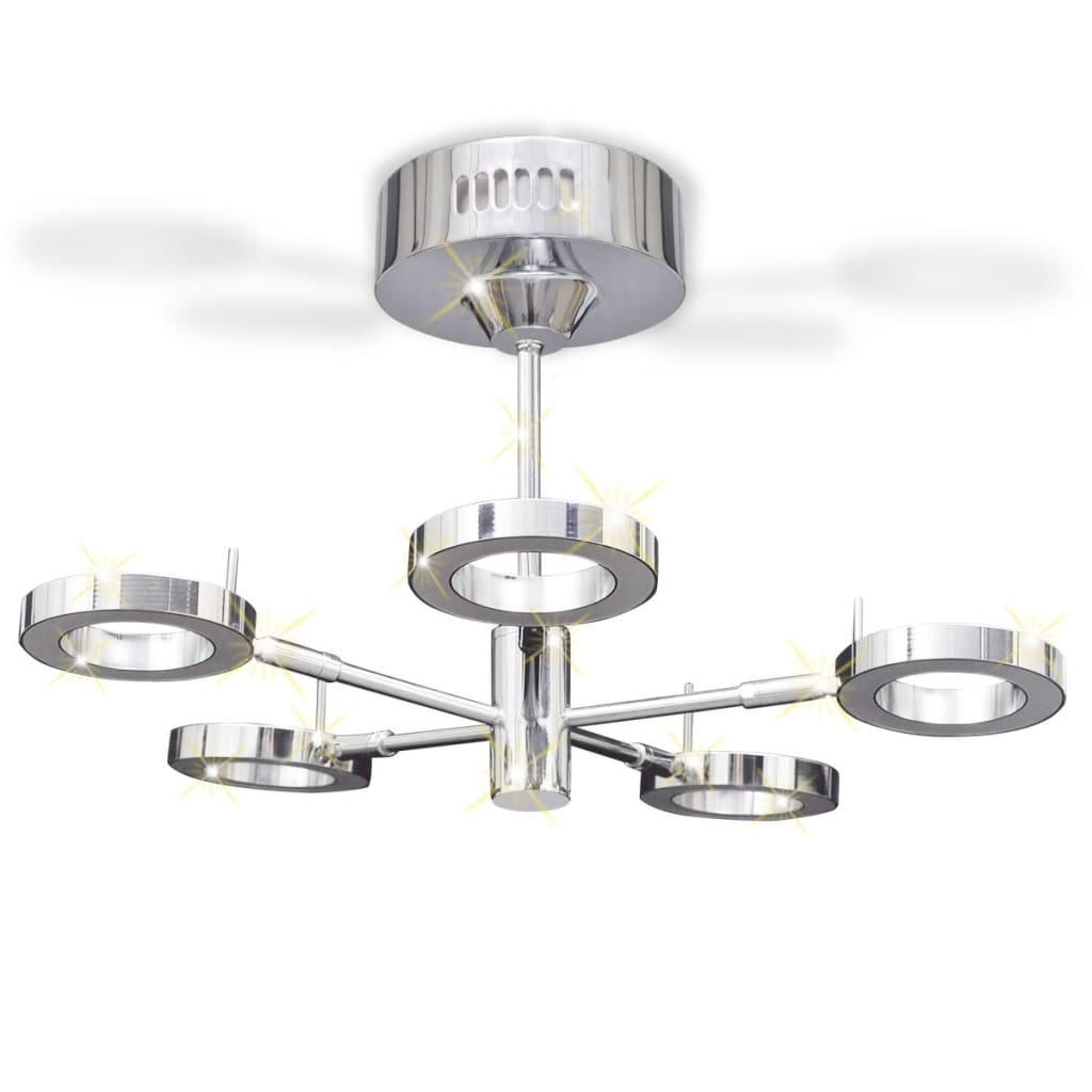 LED Ceiling Lamp With 5 Round Lights