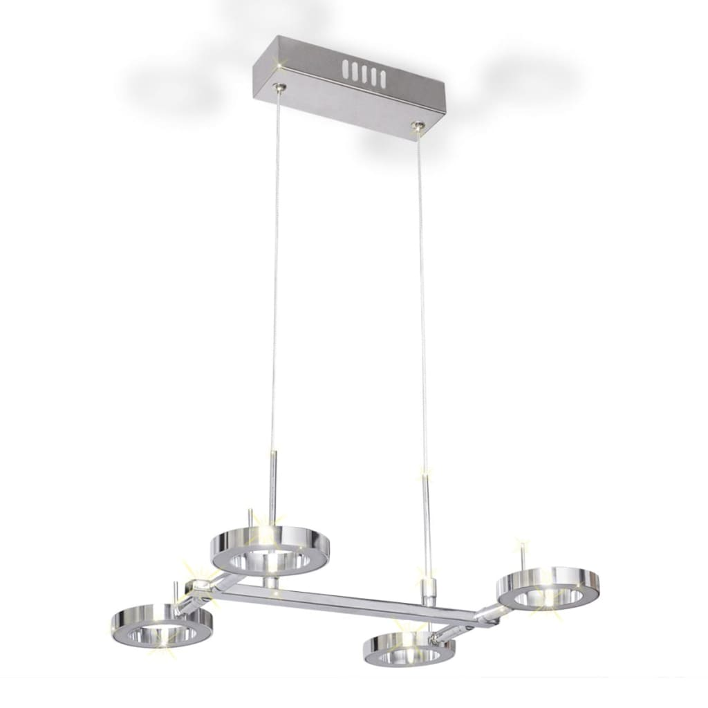 La boutique en ligne plafonnier en suspension led avec 4 for Suspension 4 ampoules