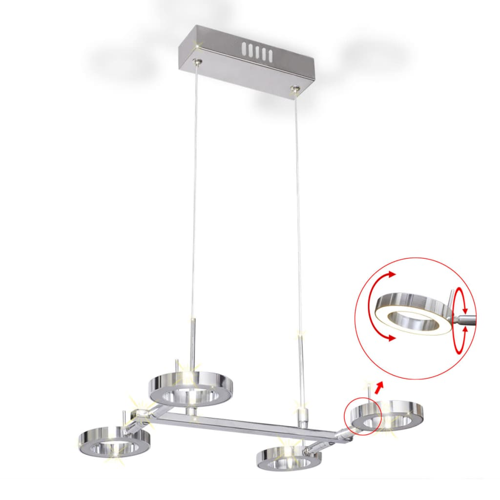 Acheter plafonnier en suspension led avec 4 ampoules for Suspension en solde