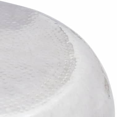 Hammered Aluminum Coffee Table Side Table Silver[2/4]