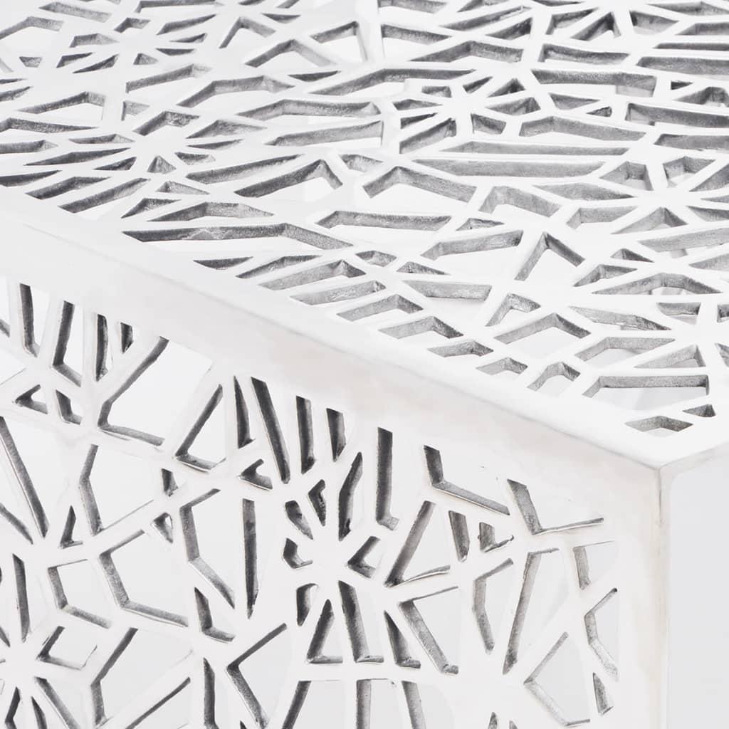 d3ada3d2787cf3 3 sur 6 vidaXL Table basse Table de salon aluminium design géométrique  ajouré Argent