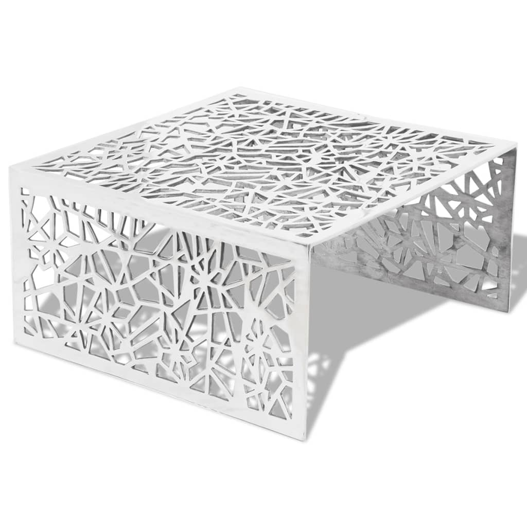 La boutique en ligne table basse en aluminium avec design for Table basse en aluminium